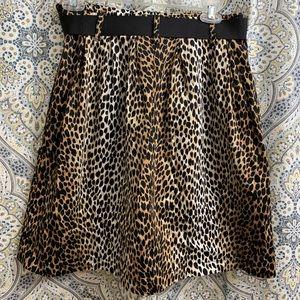 White House Black Market Skirts - White House Black Market Leopard Skirt